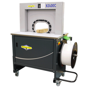 Secure Small Products from Air Filters to Wooden Dowels Fast with the N3400C Banding Strapping Machine | Dynaric, Inc.