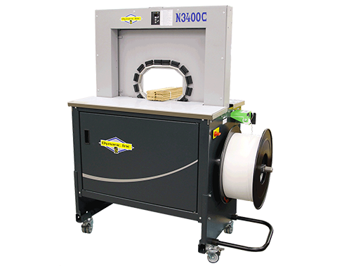 N3400C-Secure Small Products from Air Filters to Wooden Dowels with the Fast Banding Strapping Machine | Dynaric, Inc.