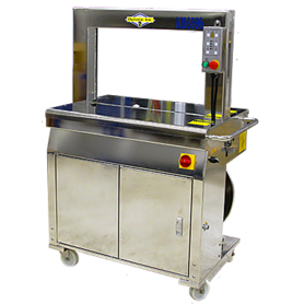 AM659S Stainless Steel Strapping Machine or the Demanding Environments such as the Meat, Poultry and Seafood Industries